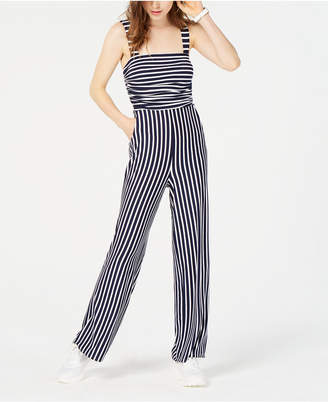 Crystal Doll Juniors' Striped Jumpsuit
