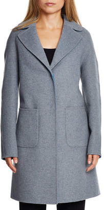 Dawn Levy Cece Reversible Wool Coat w/ Removable Fur