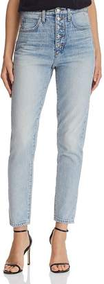 Joe's Jeans x WeWoreWhat The Danielle High-Rise Straight Jeans in Vintage Light