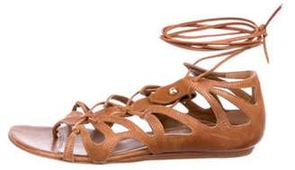 Alexander McQueen Leather Ankle Strap Sandals Leather Ankle Strap Sandals