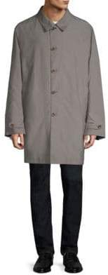 Canali Reversible Wool Raincoat