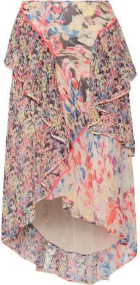 Jason Wu - Asymmetric Ruffled Floral-print Silk-georgette Midi Skirt - Pink $1,295 thestylecure.com