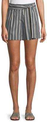 Lafayette 148 New York Greenpoint Belvedere Stripe City Shorts