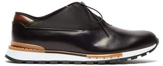 Berluti - Fast Track Leather Trainers - Mens - Black Multi