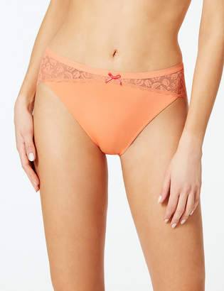 f82885605fdb M&S CollectionMarks and Spencer Lace High Leg Knickers
