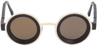 Round Metal & Acetate Sunglasses