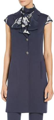 St. John Milano Knit Double Breasted Vest