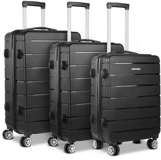 Dwelllifestyle 3 Piece Liven Luggage Suitcase Trolley Set