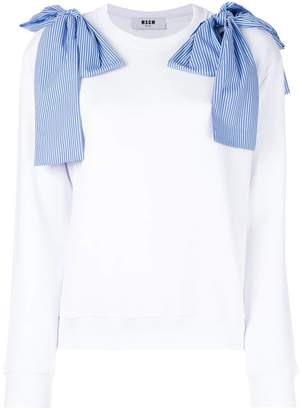 MSGM bow detail sweatshirt