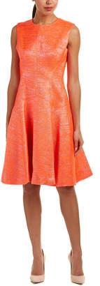 Lela Rose Silk-Lined A-Line Dress
