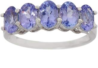 Tanzanite Five Stone Band Ring, 2.00 cttw, Sterling Silver