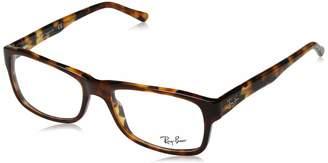 Ray-Ban Women's 0RX 5268 5675 52 Optical Frames (Top Brown Yellow Havana)