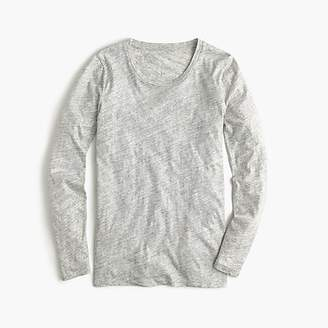 J.Crew Vintage cotton long-sleeve T-shirt in metallic