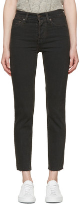 Levi's Black Wedgie Fit Jeans $90 thestylecure.com