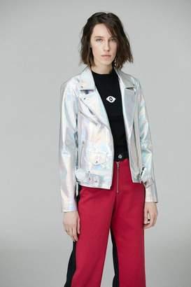 Veda Jayne Holographic Moto Jacket