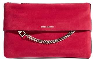 0d6b5e20dae Karen Millen Chain Detail Leather Clutch Bag