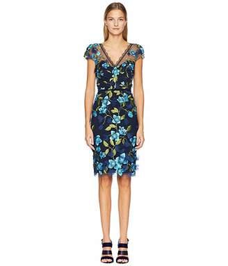 49aff574 Marchesa Notte Cap Sleeve Cocktail Dress - ShopStyle