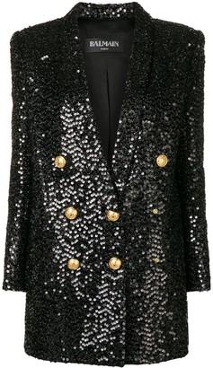 Balmain sequin blazer dress