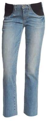 Paige Miki Straight Leg Maternity Jeans
