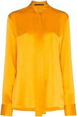 Haider Ackermann bow-neck silk blouse
