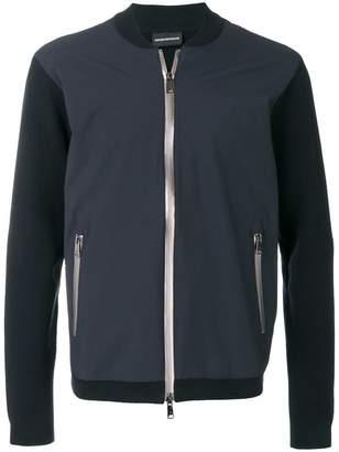 Emporio Armani contrast sleeve bomber jacket