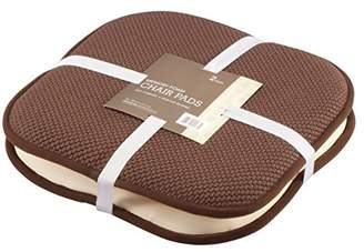 GoodGram 2 Pack Non Slip Ultra Comfort Memory Foam Chair Pads - Assorted Colors (Chocolate)
