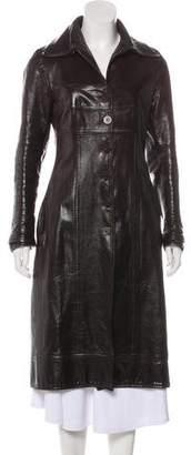 Martin Grant Long Leather Coat