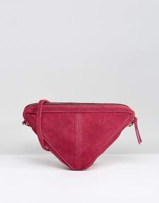 Asos Suede Triangle Cross Body Bag