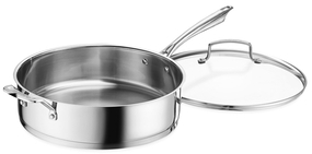Cuisinart6QT. Pro-Series Saute Pan with Helper and Cover