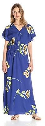 Lark & Ro Women's Kimono-Sleeve Maxi Dress
