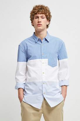 French Connenction Horizontal Cut Panels Shirt