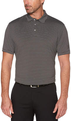 PGA Tour TOUR Easy Care Short Sleeve Stripe Jersey Polo Shirt