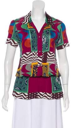 Etro Geometric Print Collared Tunic