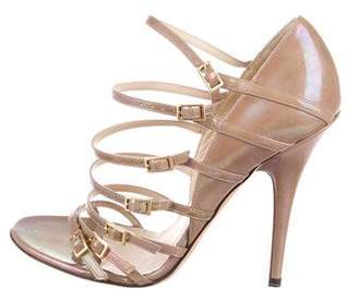 Jimmy Choo Patent Leather Buckle Sandals