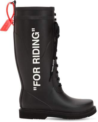 "Off-White Off White 40mm ""For Riding"" Rubber Rain Boots"