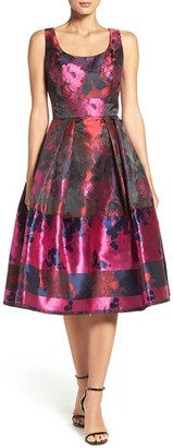 Ivanka Trump Floral Organza Fit & Flare Midi Dress $168 thestylecure.com