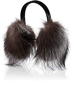 Barneys New York Women's Fur Earmuffs-Gray