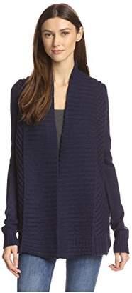 James & Erin Women's Rib Stitch Cardigan Sweater