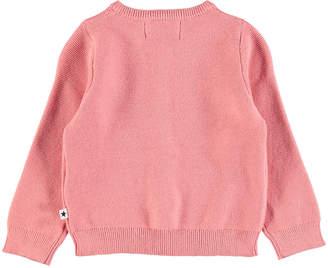 Molo Ginny Rib-Knit Cotton Cardigan