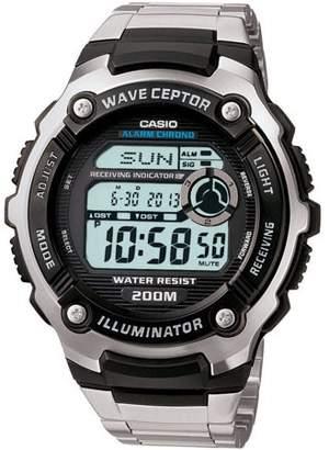 Casio Men's Atomic Timekeeping Watch, Stainless Steel Bracelet