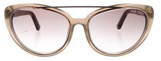 Tom Ford Edita Dramatic Cat-Eye Sunglasses