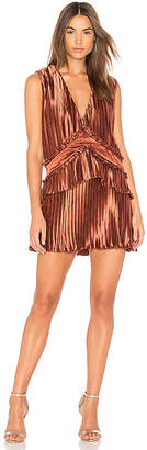 Finders Keepers Stardust Ruffle Mini Dress