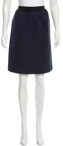 CelineCéline Navy Knee-Length Skirt