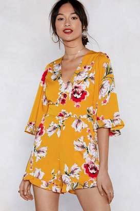 Nasty Gal Grow to Love Me Floral Romper