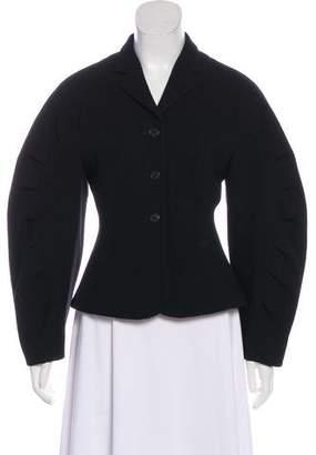 Thom Browne Wool Pleated Sleeve Blazer