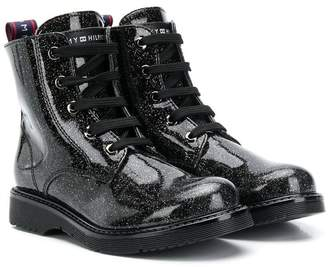 Tommy Hilfiger Junior glittery ankle boots