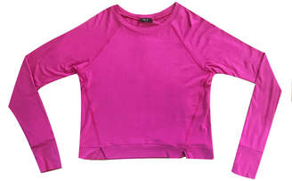 Terez Long-Sleeve Top w/ Front Slashes, Size 7-16