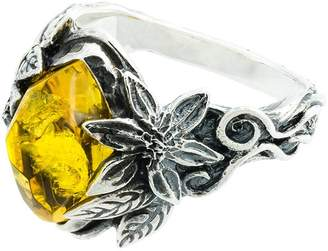 Lyly Erlandsson Yellow Aria silver ring