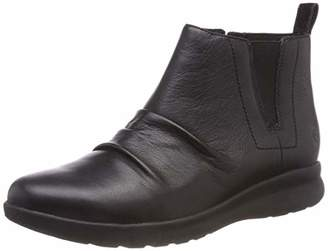 Clarks Women's Un Adorn Mid Slouch Boots, (Black Leather)