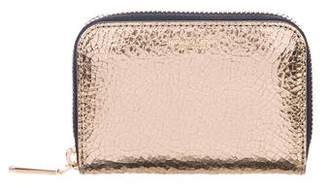 47d41c5cf8db2 Michael Kors Metallic Leather Mini Wallet